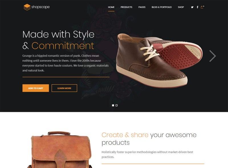 Shopscape - Tema de WordPress para un solo producto