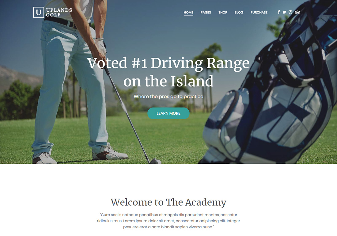 Uplands WordPress Golf Theme