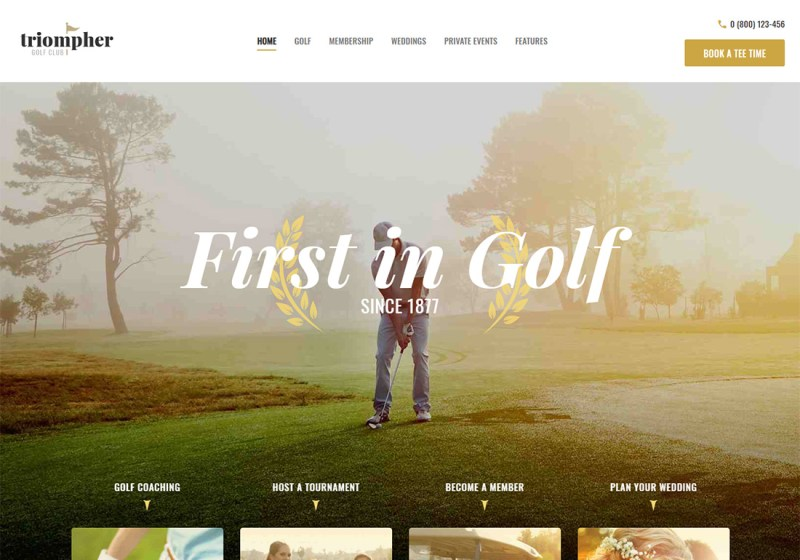 Triompher WordPress Golf Theme