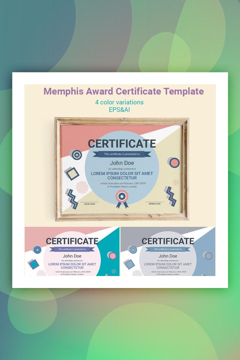 Memphis Award Certificate Template