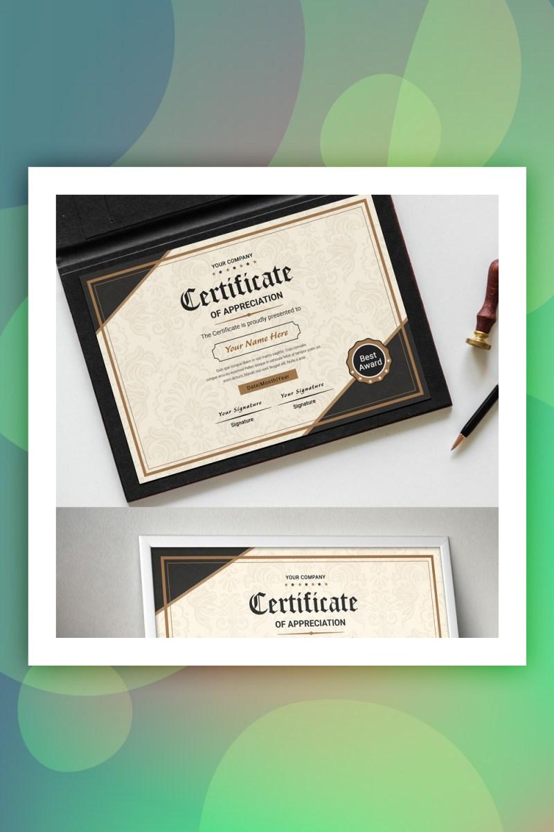 Plantilla de certificado de reconocimiento clásico