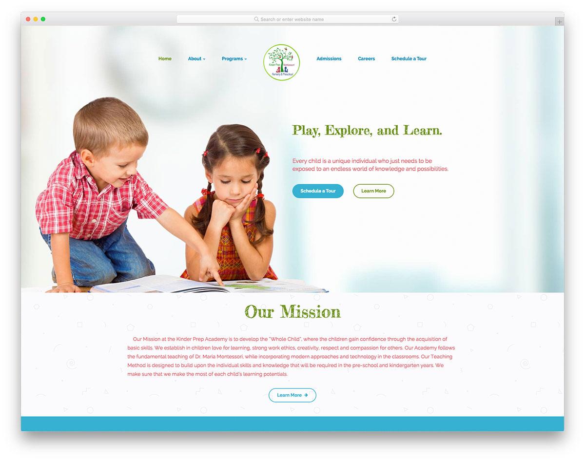 Academia de preparación de Kinder