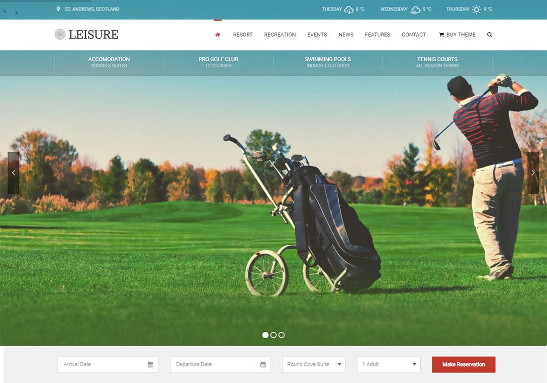 Hotel Ocio WordPress Golf Theme