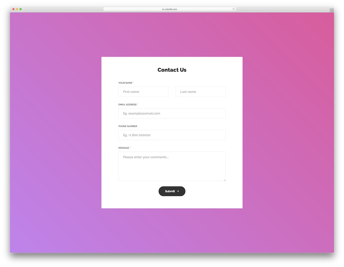 As easy as 1,2,3, no coding needed. Top 41 Free Html5 Css3 Contact Form Templates 2021 Colorlib