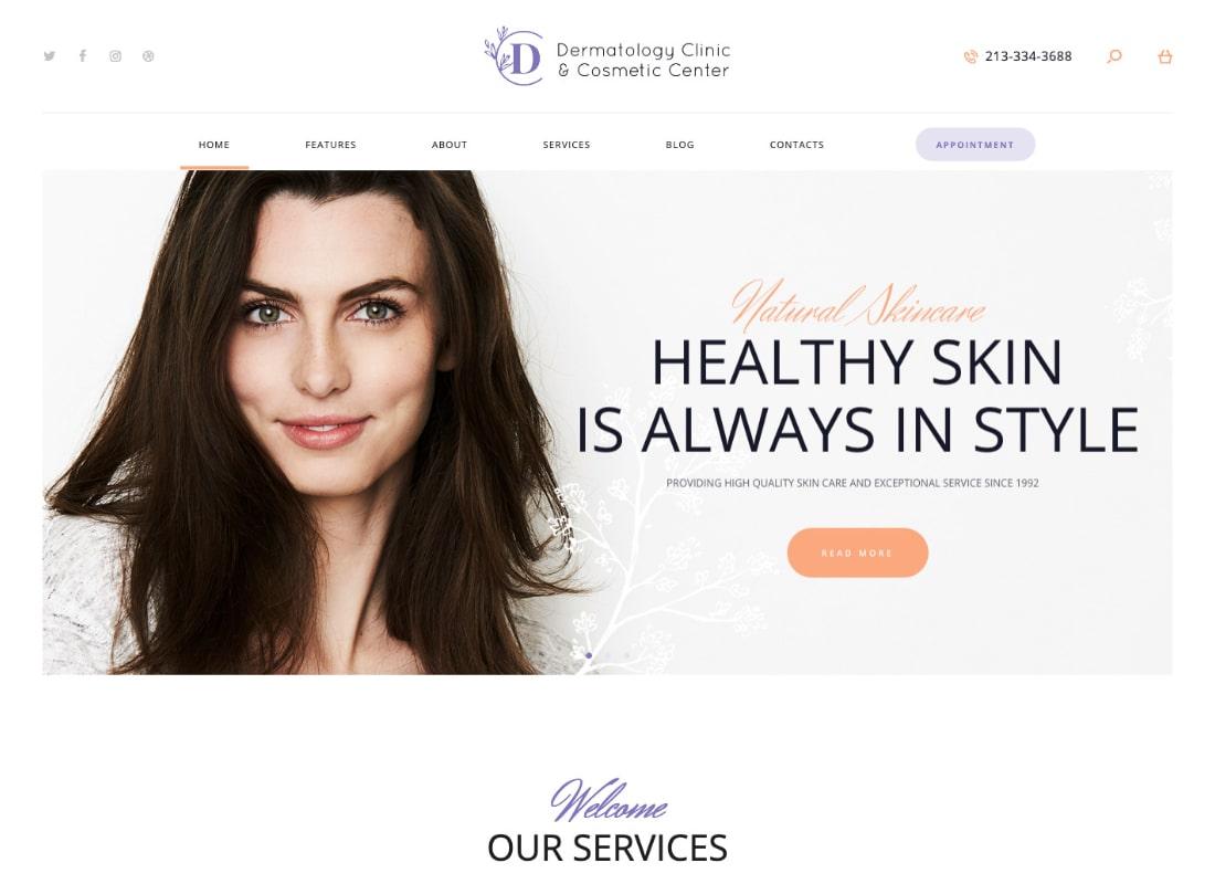 D&C | Tema de WordPress para Clínica de Dermatología y Centro de Cosmetología