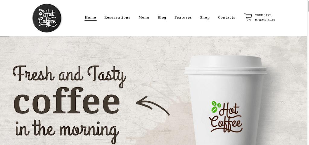 Café caliente: solo otro sitio de WordPress