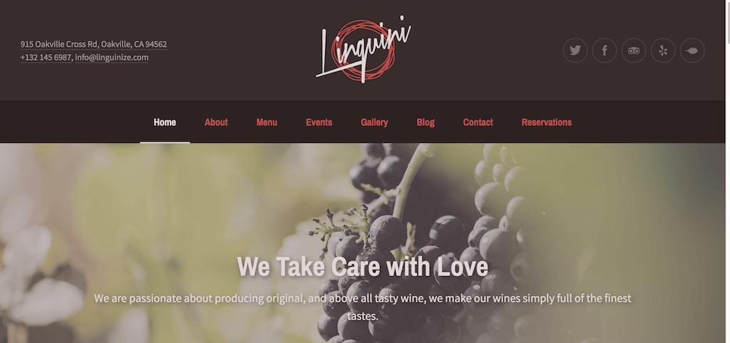 Linguini - Tema de WordPress para restaurantes
