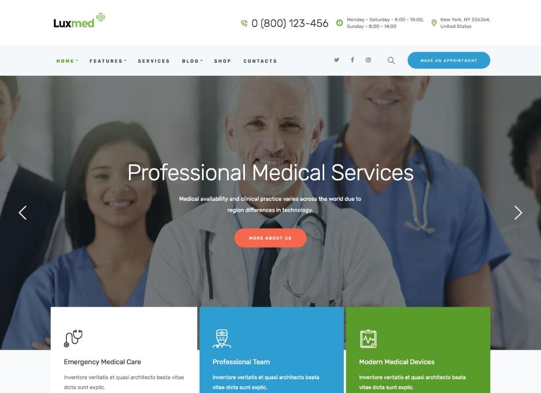 LuxMed | Tema de WordPress Medicina y Salud