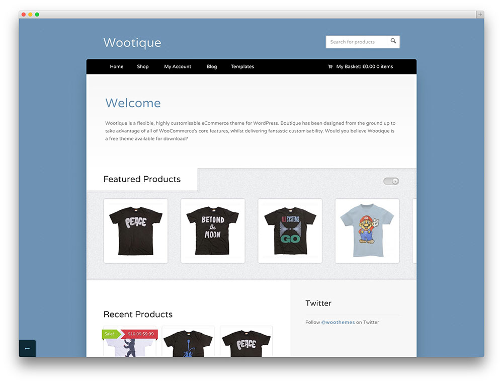 tema eCommerce Wootique