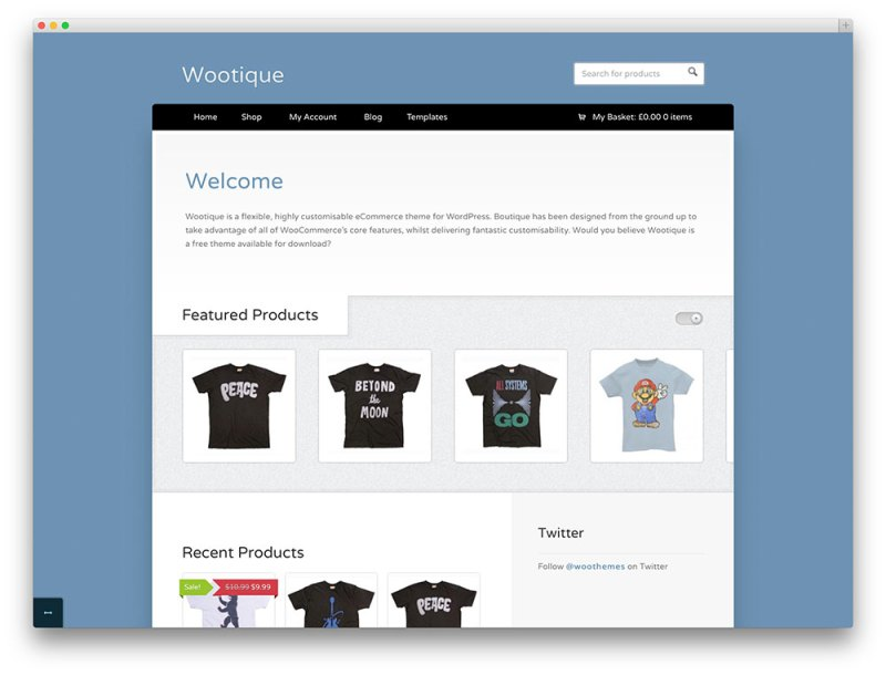 Wootique eCommerce theme