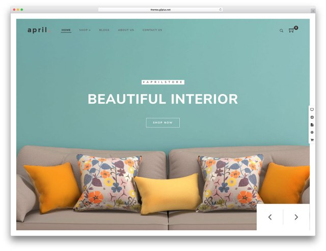 APRIL  WordPress eCommerce theme