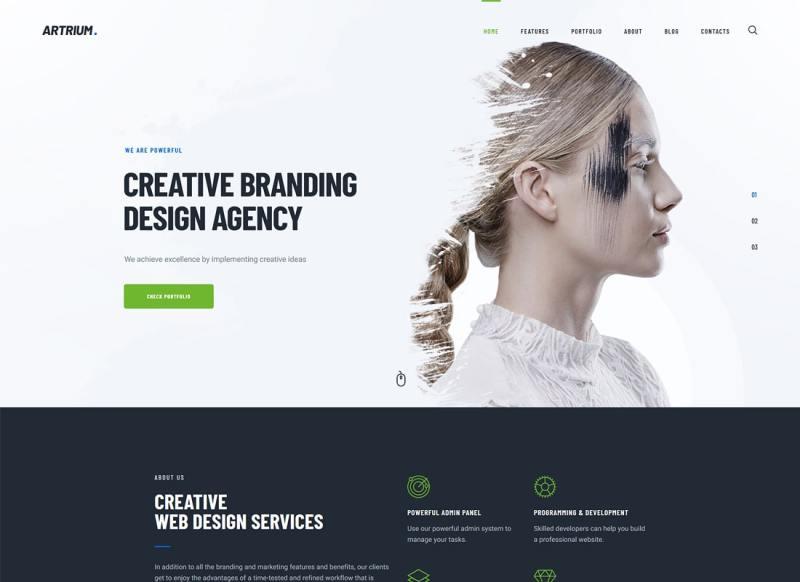 Artrium   Agencia creativa y tema de WordPress para Web Studio