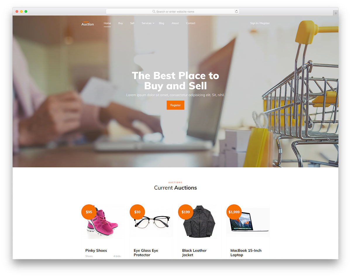 Track how your prospects are viewing your proposal and seal the deal quickly with builtin and payment web design bid website templates. Auction Best Auction Website Template Design 2021 Colorlib