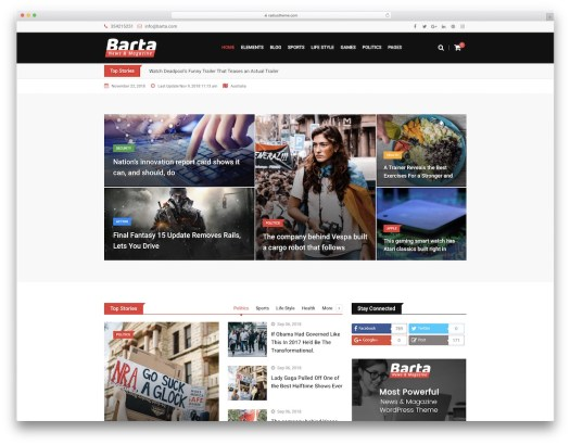 barta best news wordpress theme