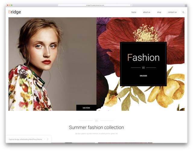 Bridge  WordPress eCommerce theme