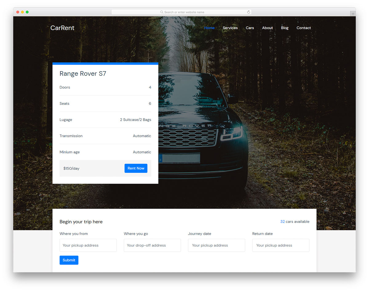 Carrent Free CSS Template