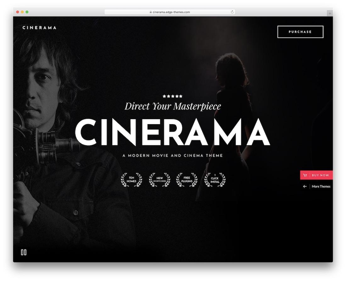 cinerama wpml compatible wordpress theme