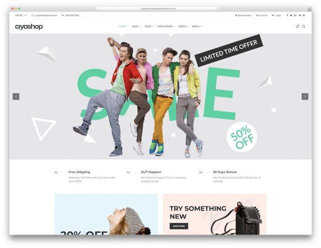 CiyaShop  WordPress eCommerce theme