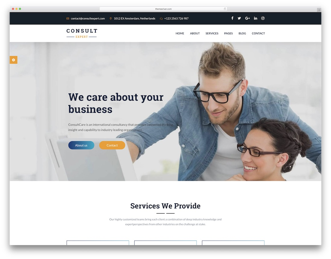consult expert consulting website template