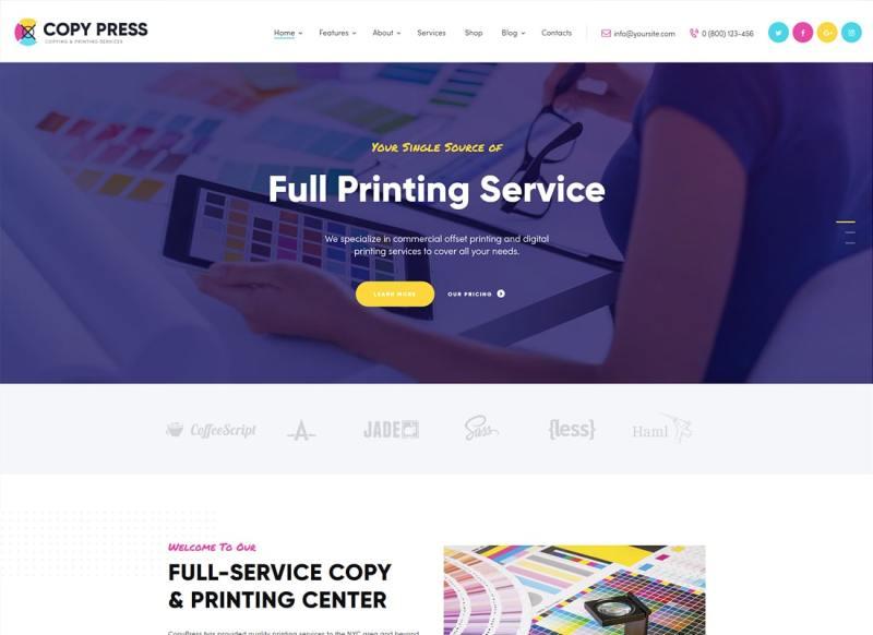 CopyPress | Tipo Diseño y Servicios de impresión Tema de WordPress