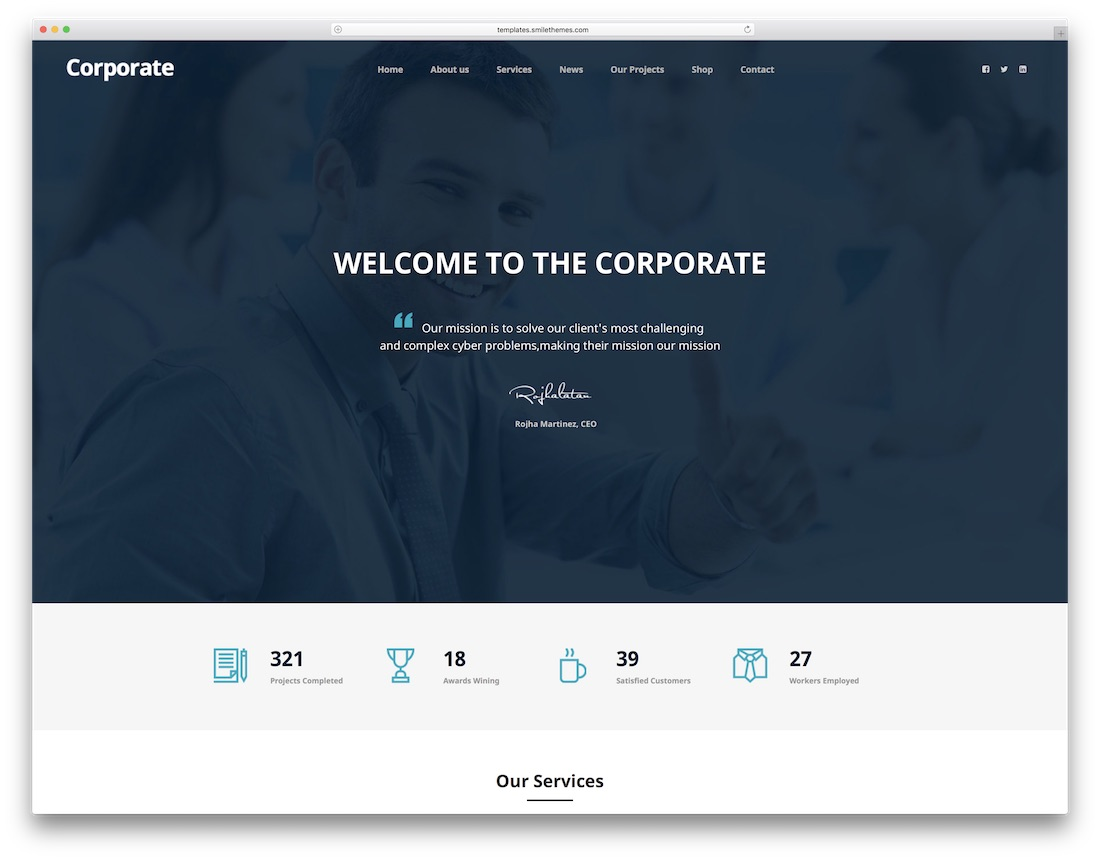corporate consulting website template