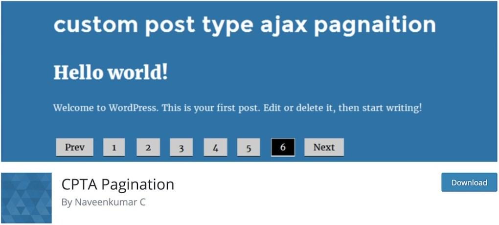 tùy chỉnh loại bài viết ajax phân trang plugin wordpress