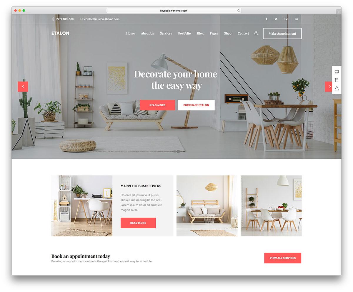 15 Best Interior Design WordPress Themes 2019  Colorlib