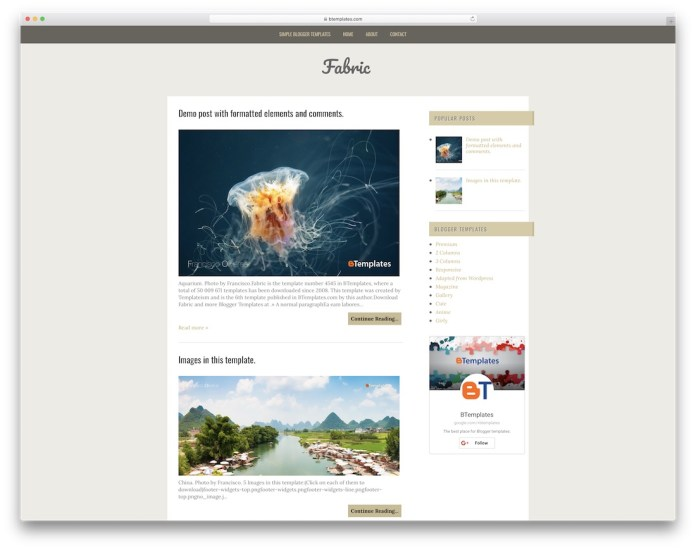 top free responsive blogger templates