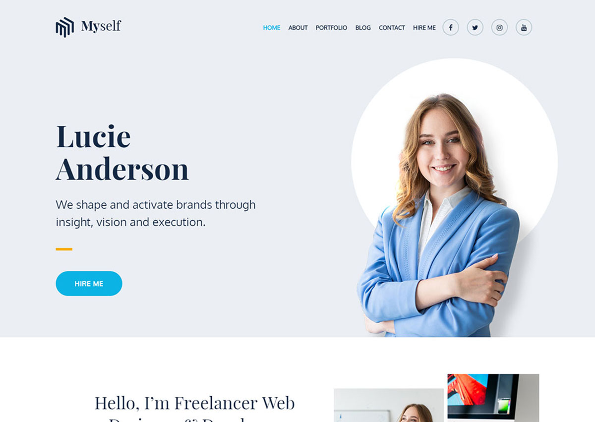 Portfolio wordpress theme is clean and minimal that is perfect for displaying your works in style, along with a beautiful blog and tons of great features. 18 Best Free Personal WordPress Themes 2021 Colorlib