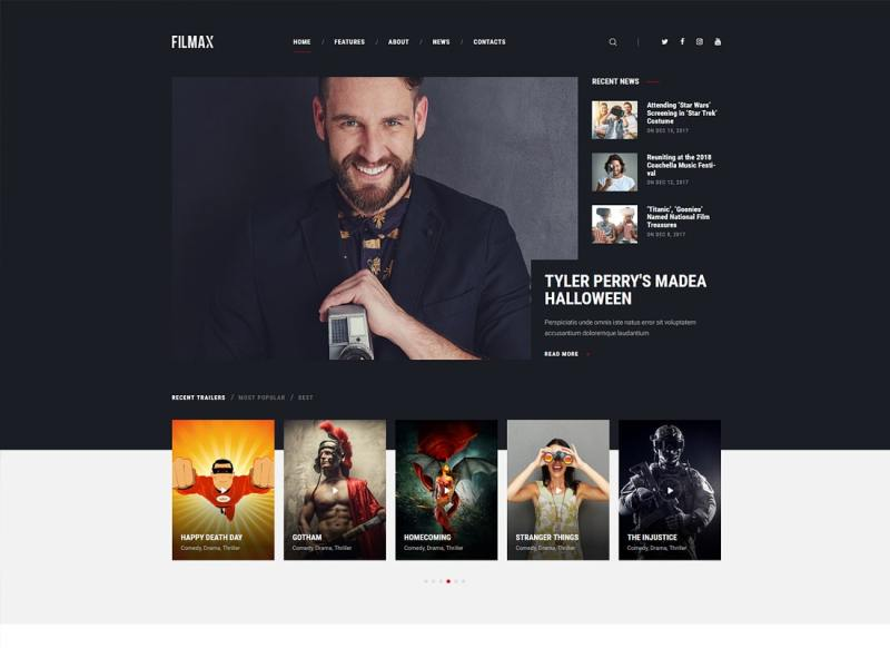 Filmax | Tema de WordPress Movie Magazine