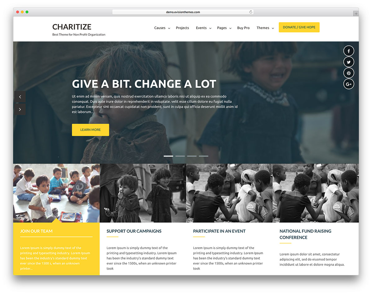 20 free charity wordpress