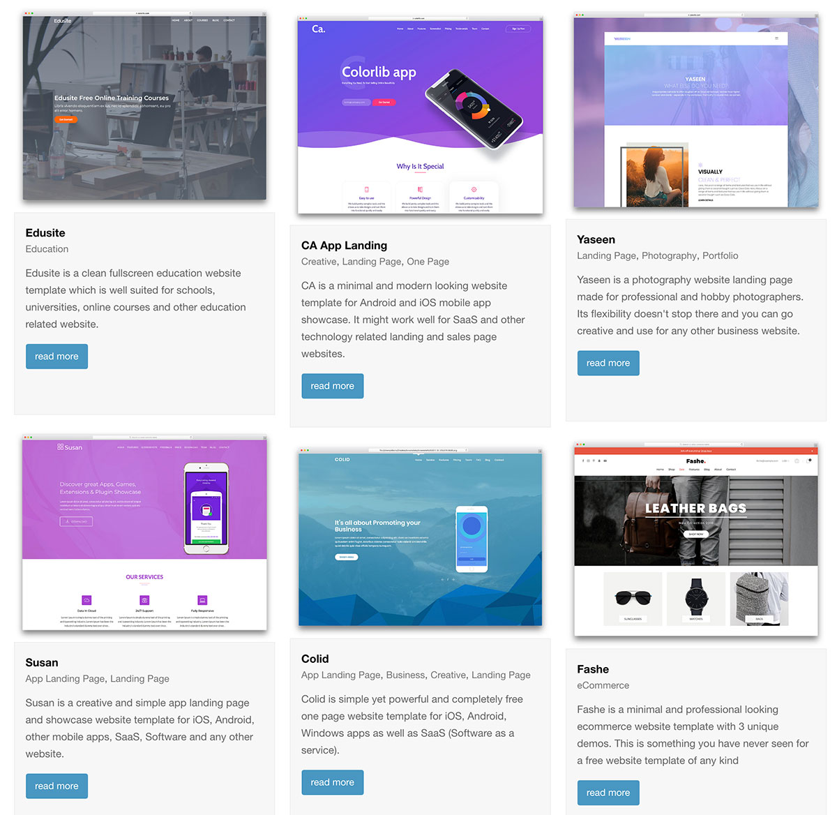 67 Free HTML Website Templates 2019 Colorlib