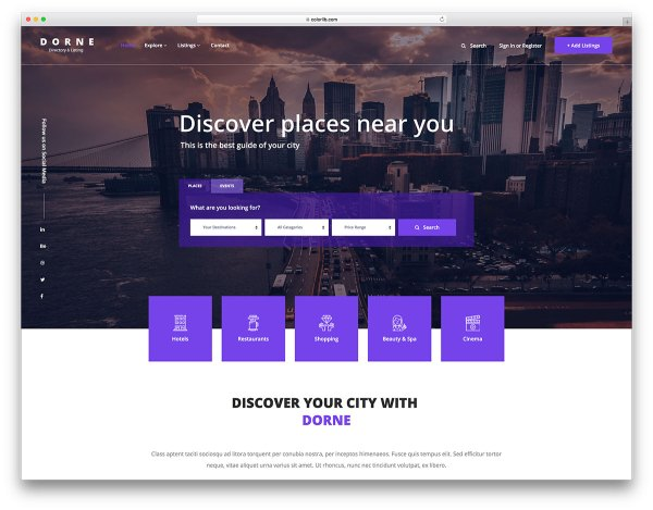 Free Directory Website Templates 2019 - Colorlib