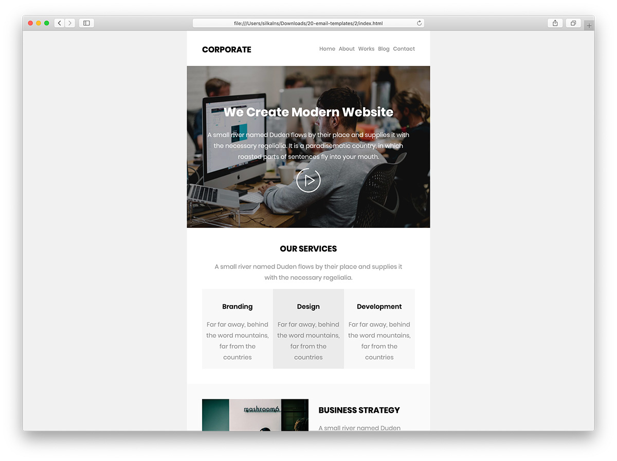 Browse hundreds of html email templates and choose the best for your business. 39 Free Responsive Html Email Templates 2021 Colorlib