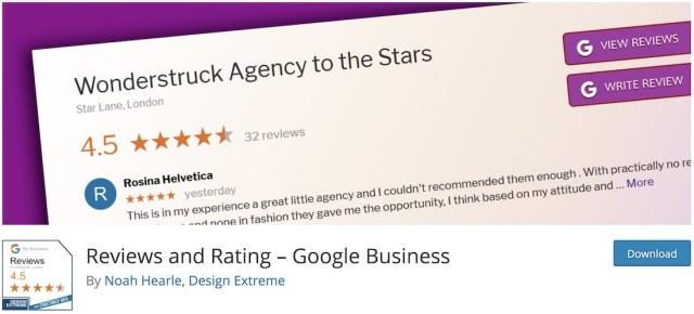 google business reviews rating