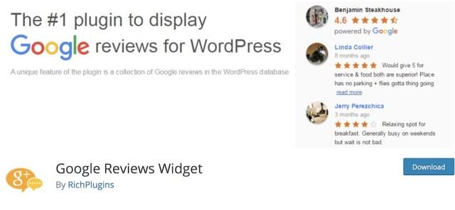 google reviews widget wordpress plugin