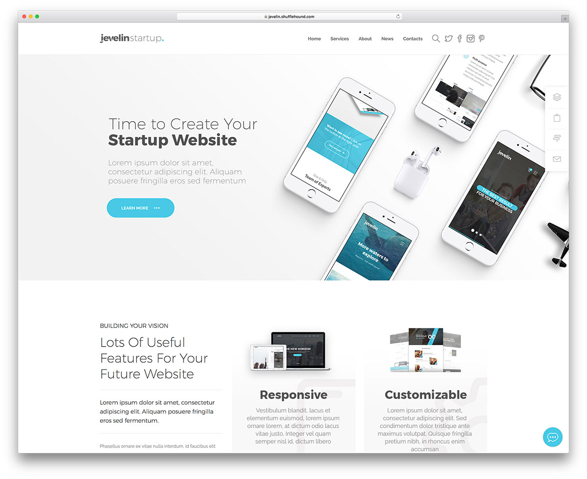 40+ WordPress Themes for IT Companies and Tech Startups