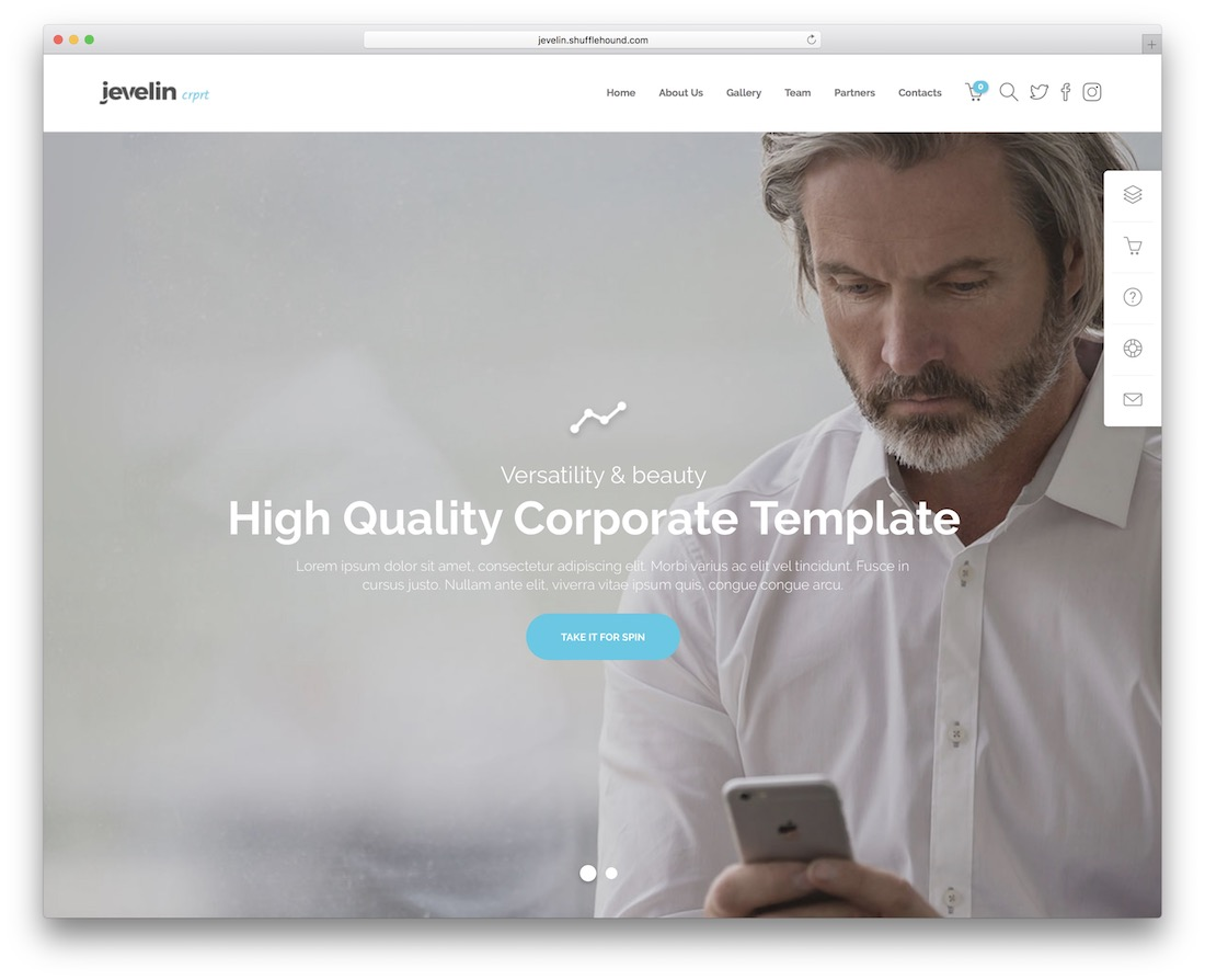 jevelin consulting website template