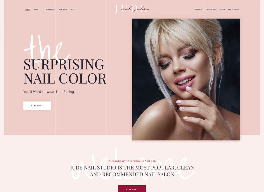 Judas | Tema de WordPress Nail Bar & Beauty Salon