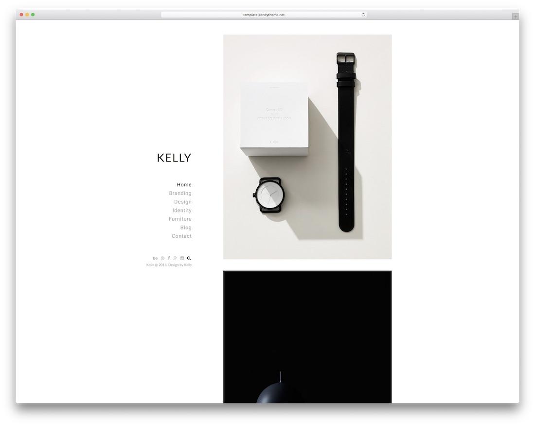plantilla de sitio web de la galería de kelly