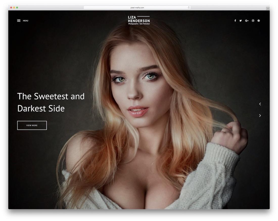 plantilla de sitio web de la galería liza