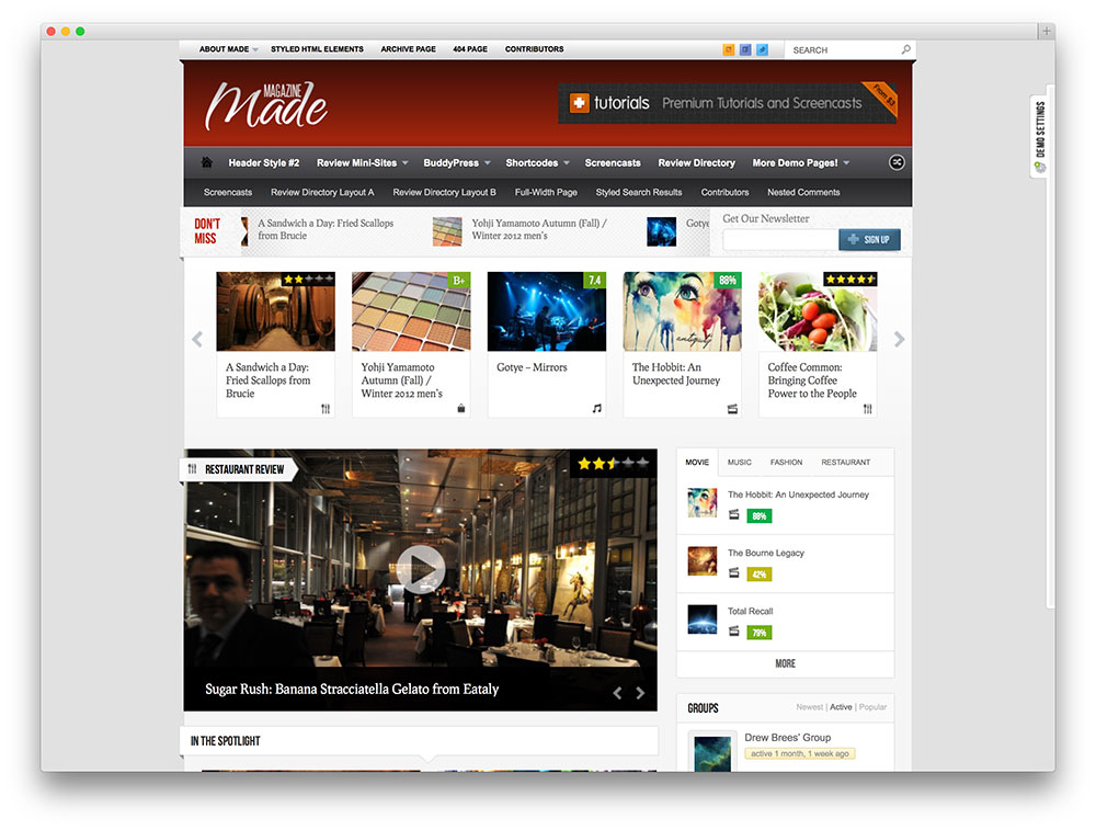 magazine made wordpress theme