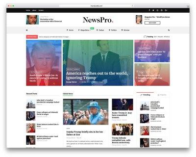 Top 50+ News Magazine WordPress Themes 2019 - colorlib