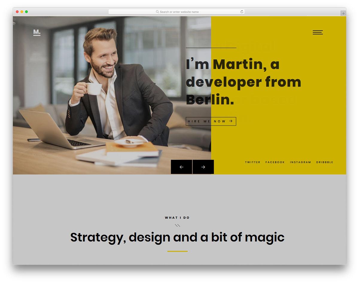 Pixel Free Creative Agency Website Template 2019 - Resume