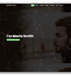 martin luther graphic design website template [ 1100 x 860 Pixel ]