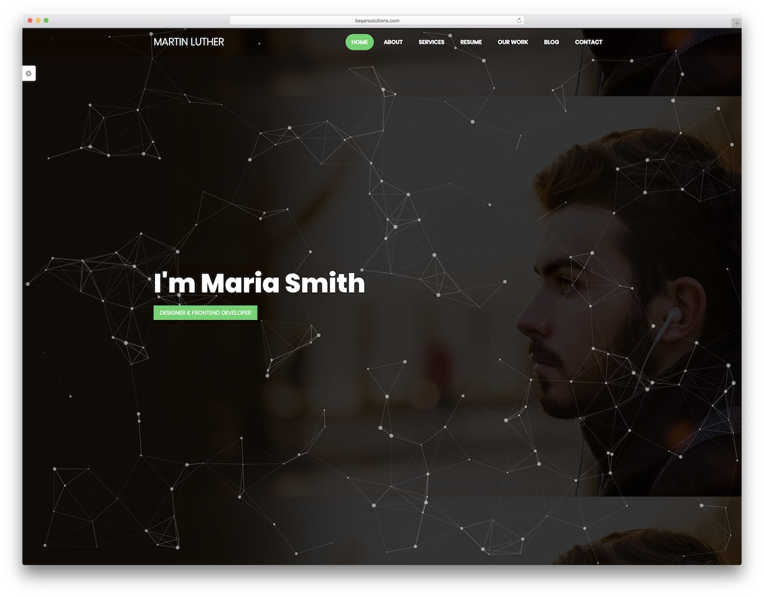 hight resolution of martin luther graphic design website template