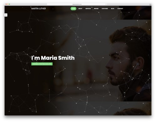 small resolution of martin luther graphic design website template