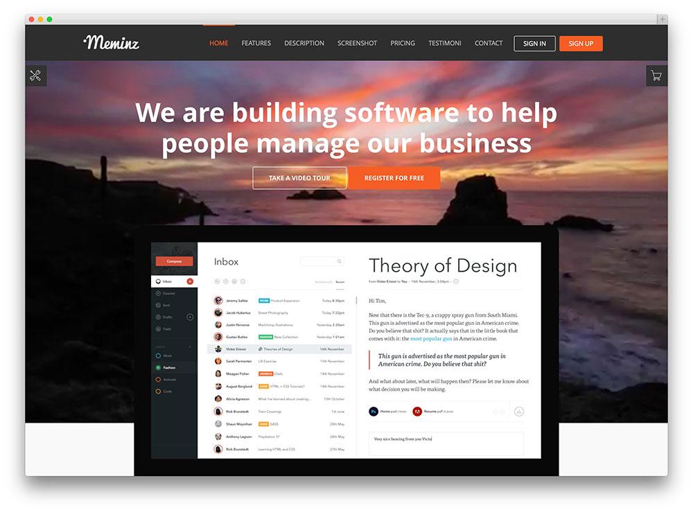 company centered homepage | 41studio
