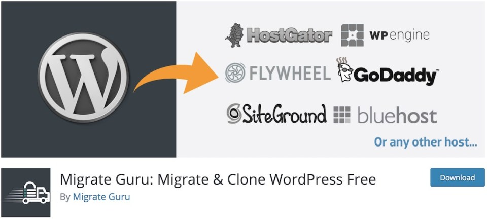 migrar guru clone wordpresss plugin