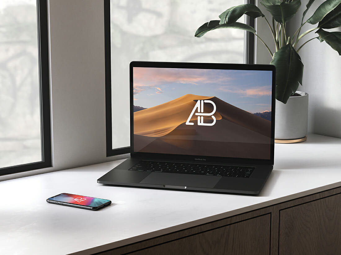 28 free macbook mockups